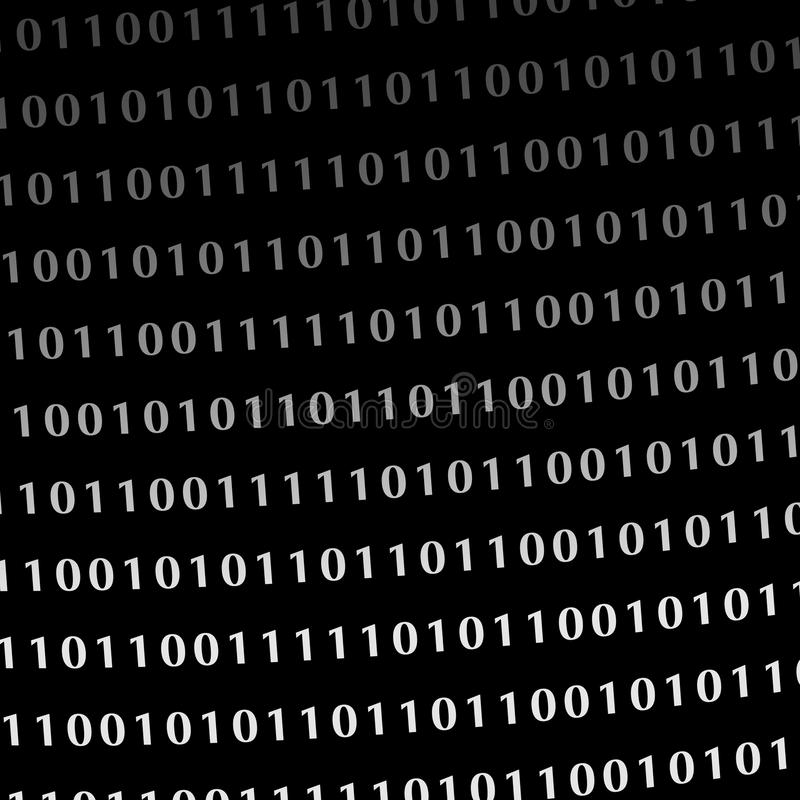 Chiffres binaires de moniteur de langage de programmation illustration libre de droits
