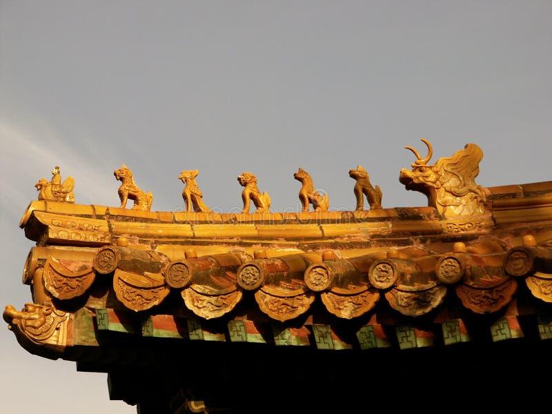Chiffres chinois de toit images stock