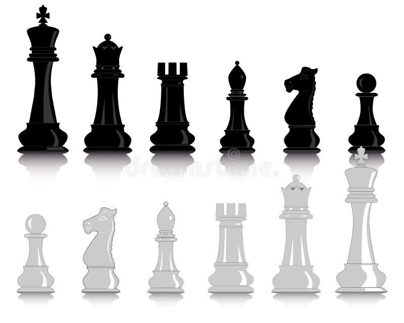 Chiffres d'échecs illustration stock