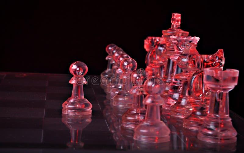 Chiffres d'échecs sur un panneau photo stock