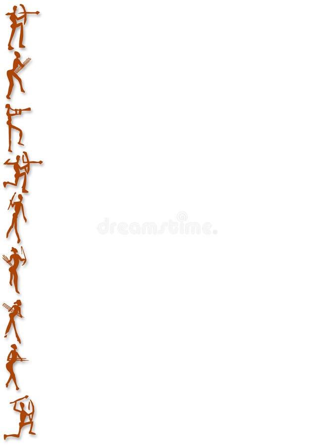 Chiffres d'Africain de fond illustration de vecteur
