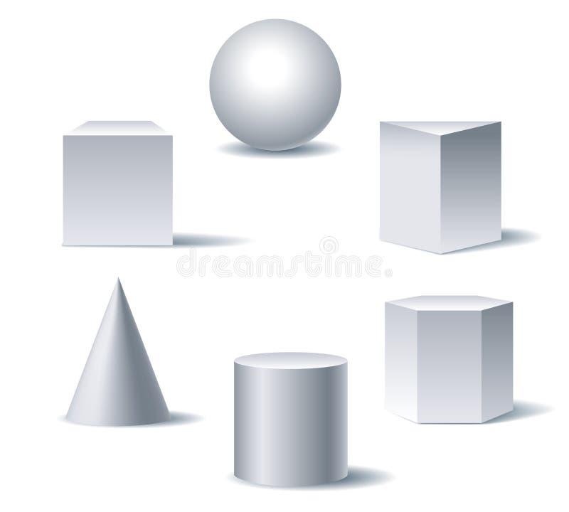 Chiffres 3d géométriques illustration stock