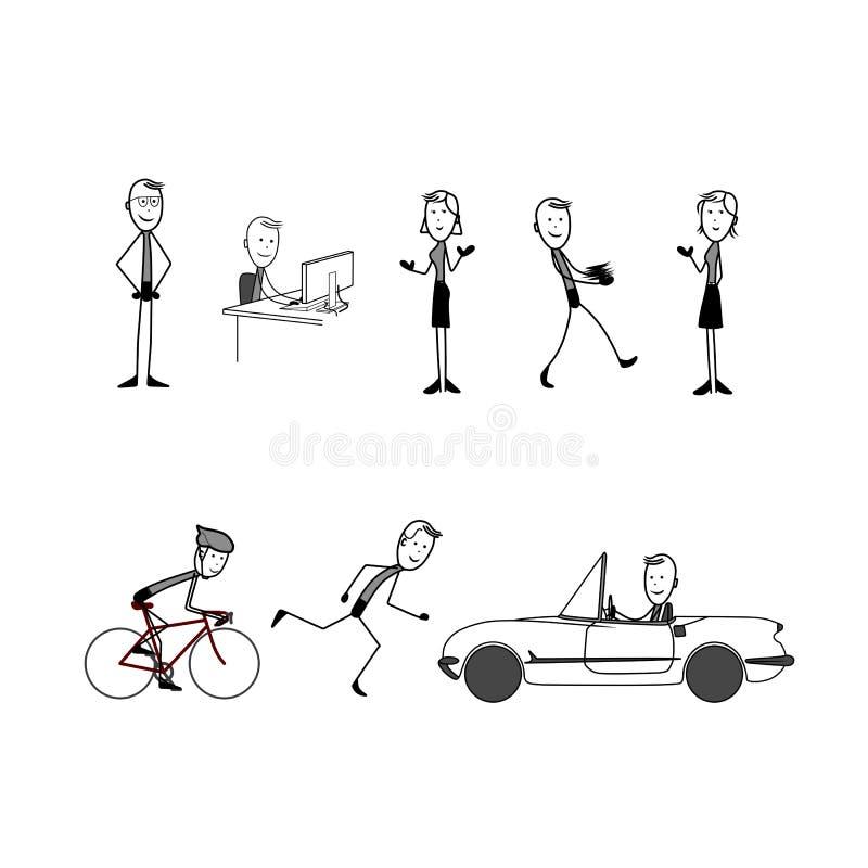 Chiffres de bâton illustration libre de droits