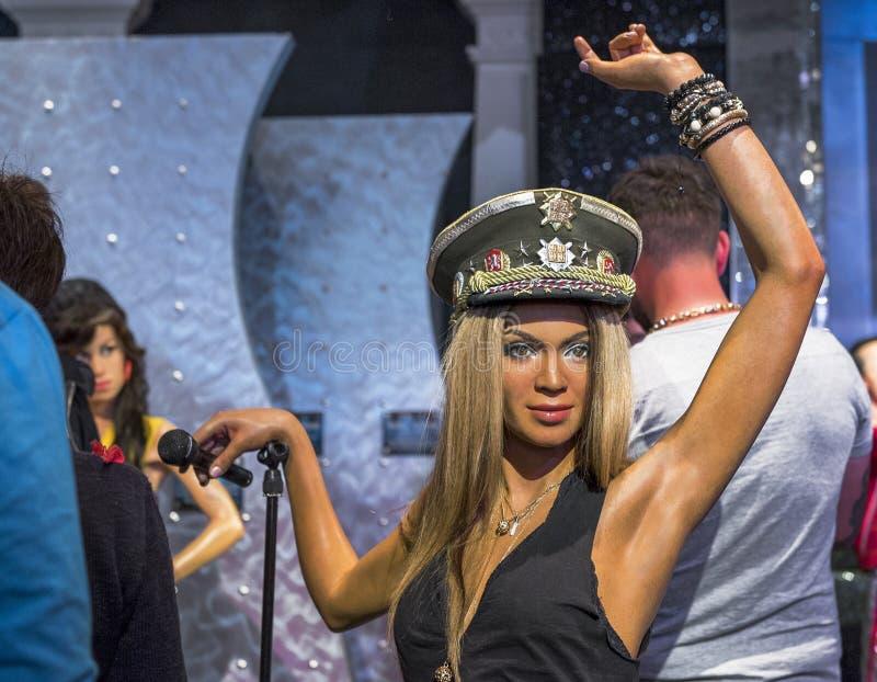 Chiffres de cire de Beyonce images stock