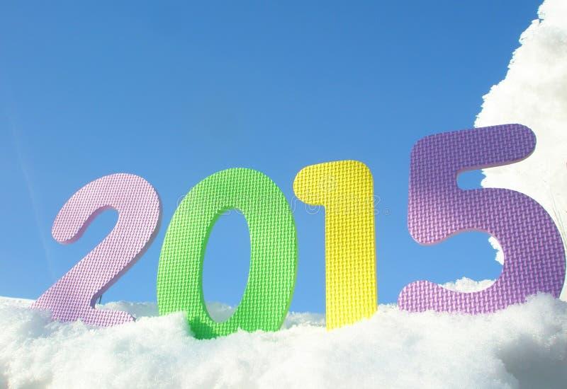 Chiffres de l'an neuf heureux 2015 image stock