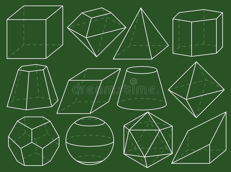 Chiffres de la géométrie illustration libre de droits