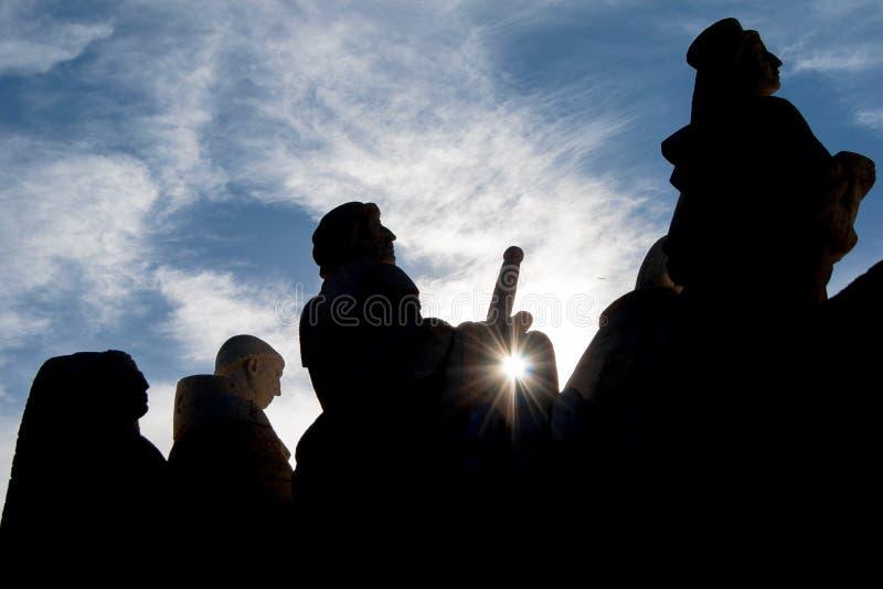 Chiffres de monument à Madrid photographie stock libre de droits
