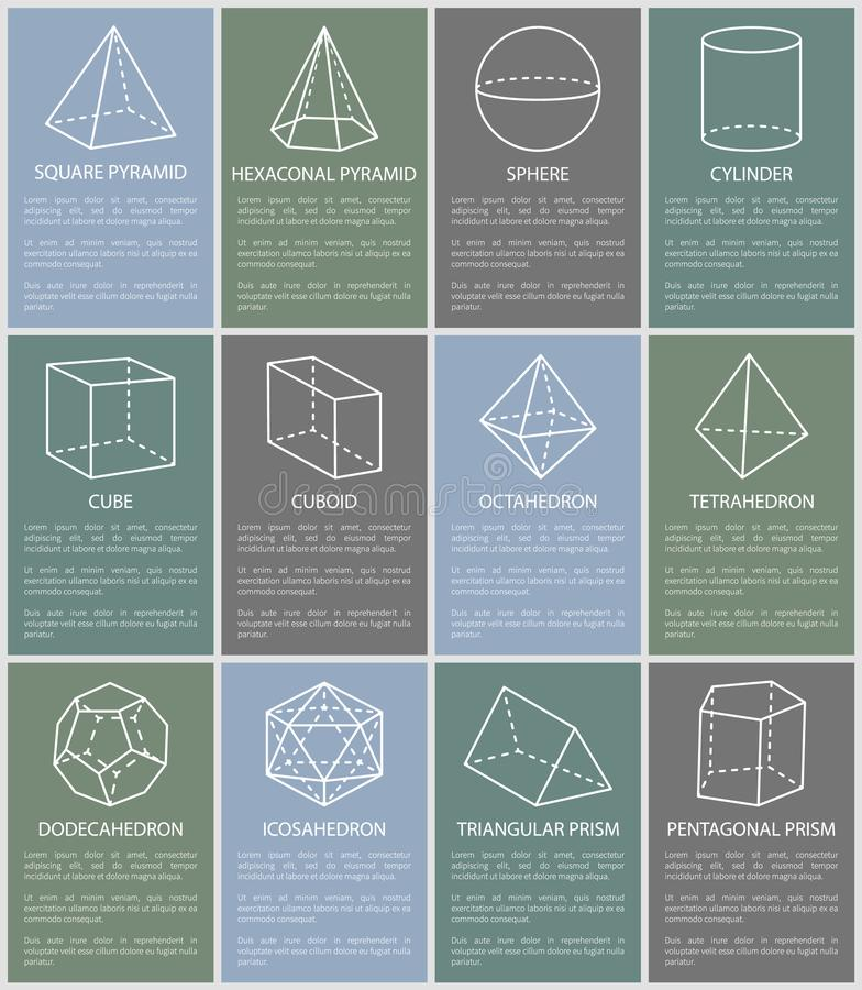 Chiffres géométriques illustration de diverse forme de vecteur illustration de vecteur