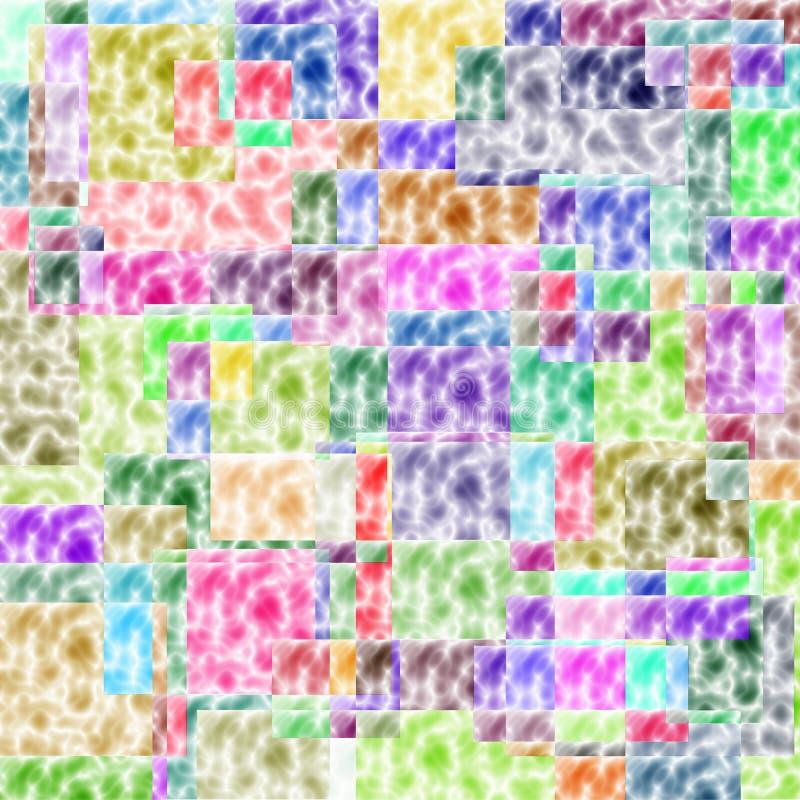 Chiffres sans couture colorés modèle illustration libre de droits