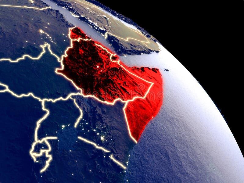 Chifre de África do espaço ilustração do vetor