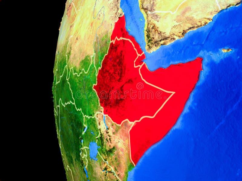 Chifre de África do espaço ilustração stock