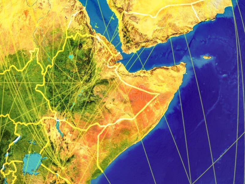 Chifre de África na terra ilustração do vetor