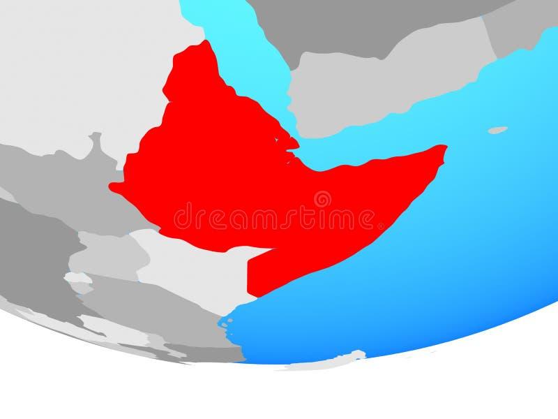 Chifre de África no globo ilustração do vetor
