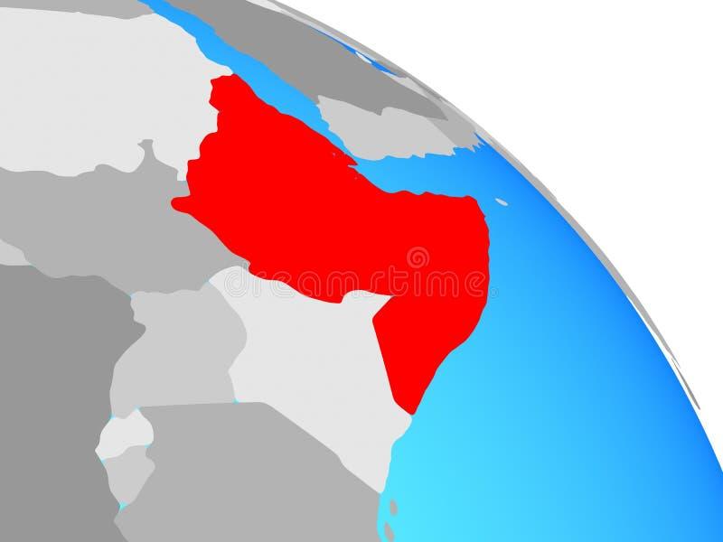 Chifre de África no globo ilustração stock