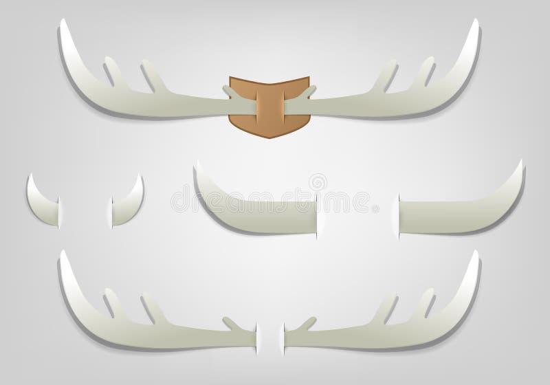 Chifre de papel creativo ilustração do vetor