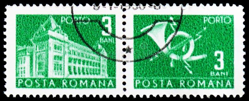 Chifre geral da estação de correios e de cargo foto de stock royalty free