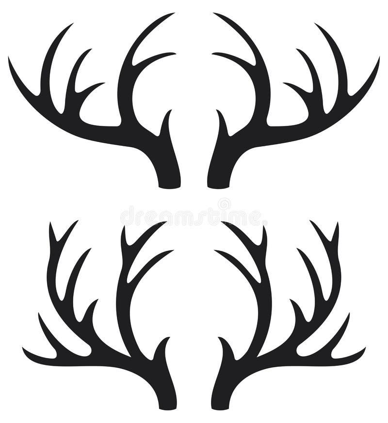 Chifres dos cervos ilustração royalty free