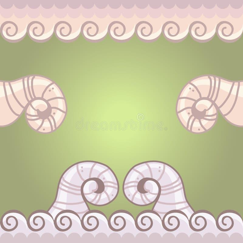 Chifres e laços do cordeiro ilustração stock