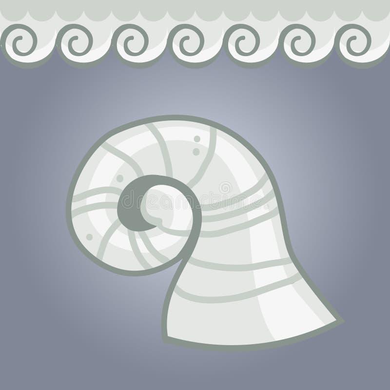 Chifres e laços do cordeiro ilustração do vetor