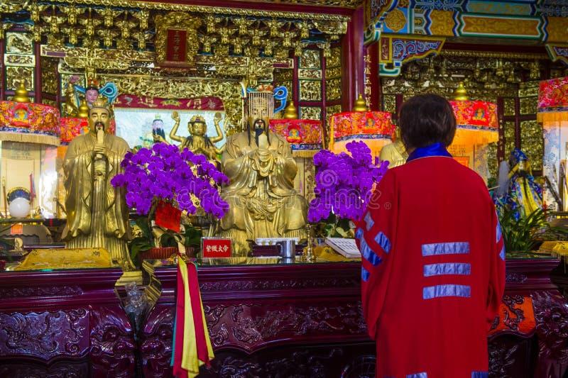 Chih Nan Temple i Taipei arkivbild