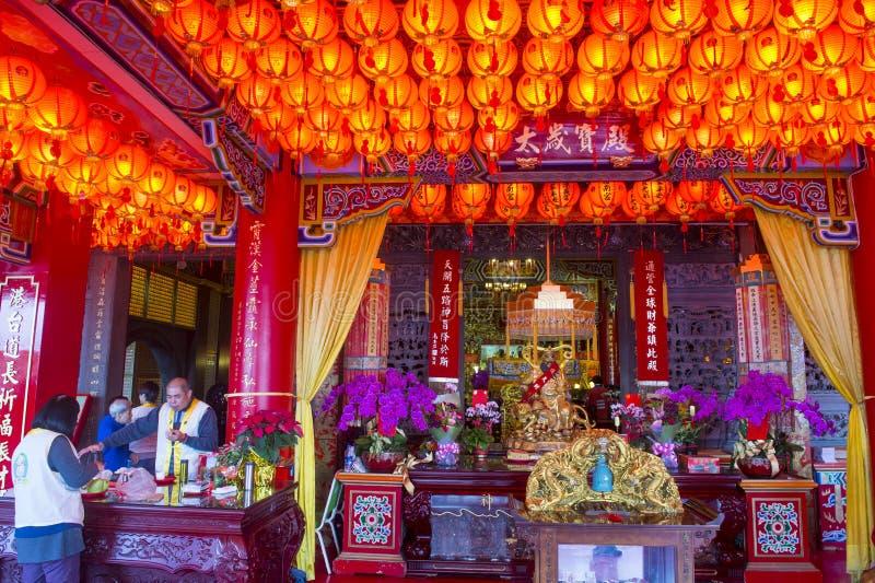 Chih Nan Temple in Taipeh royalty-vrije stock fotografie