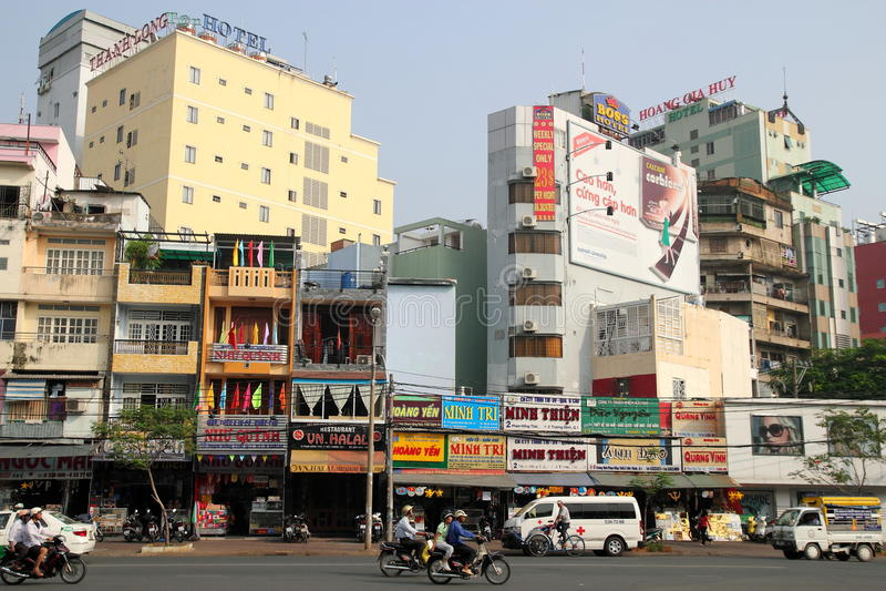 chihominh vietnam arkivfoto