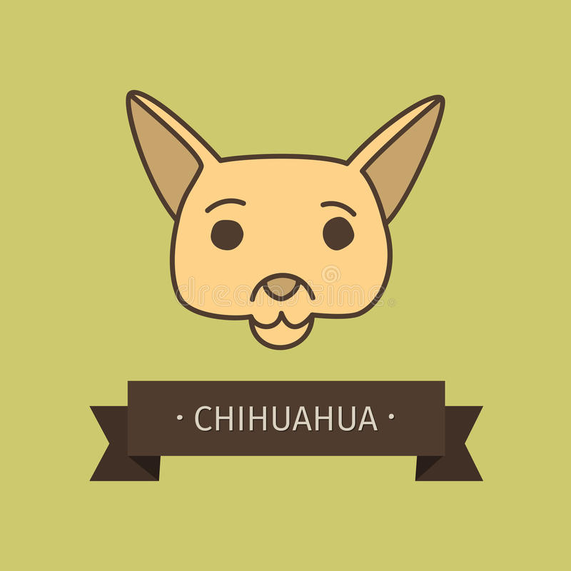 Chihuahua breed dog for logo design stock illustration