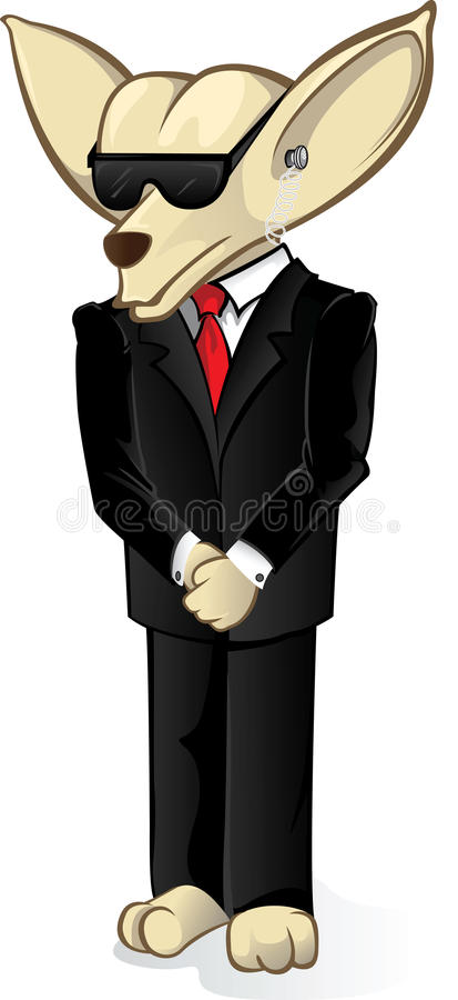 Chihuahua da segurança ilustração do vetor