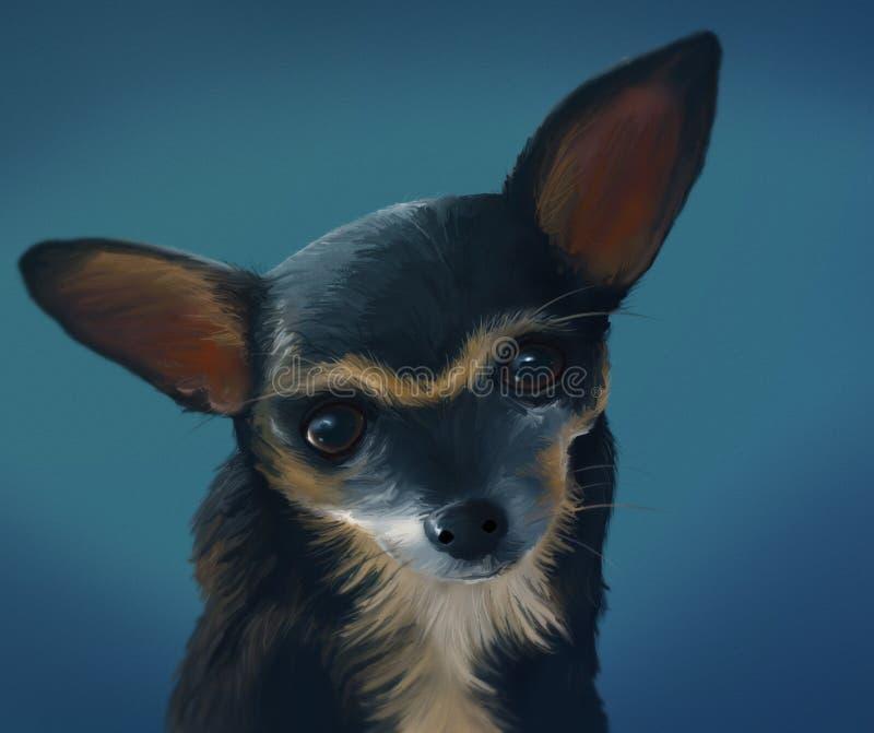 Chihuahua - Digital Painting Royalty Free Stock Photos