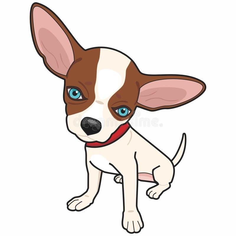 Chihuahua Dog Caricature - Colorful Illustration stock illustration