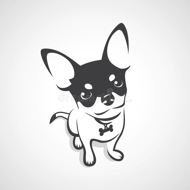 Chihuahua dog - vector illustration. Isolated animal icon stock illustration