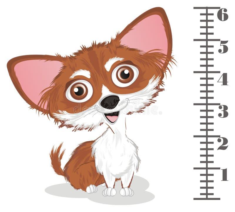 Chihuahua en heerser vector illustratie