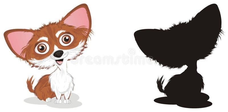 Chihuahua en schaduw vector illustratie