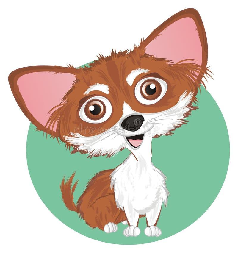 Chihuahua en teken vector illustratie