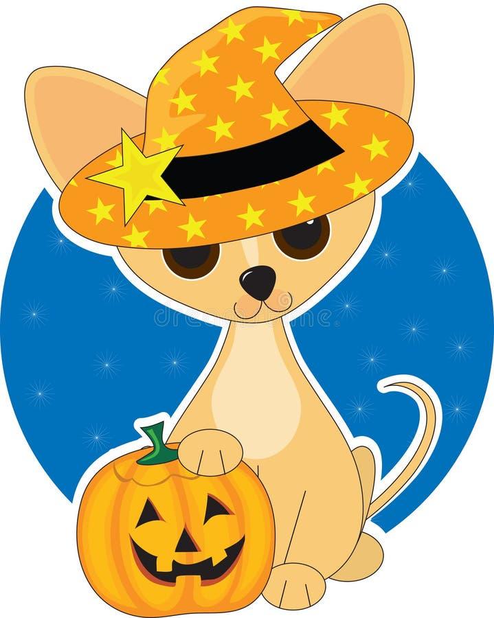 Chihuahua Halloween royalty-vrije illustratie