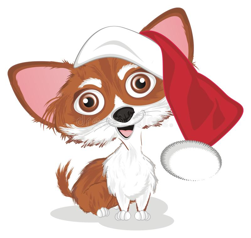 Chihuahua in hoed stock illustratie
