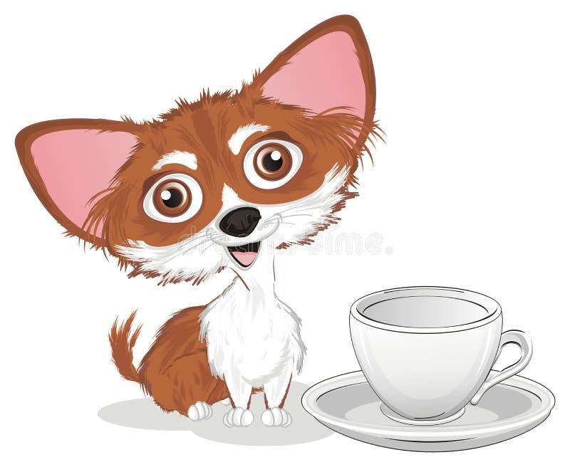 Chihuahua met een kop vector illustratie