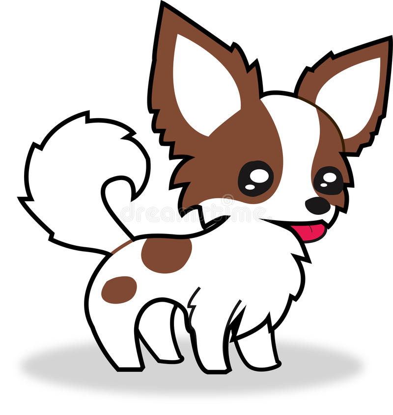 Chihuahua. Party colour for clipart or other royalty free illustration