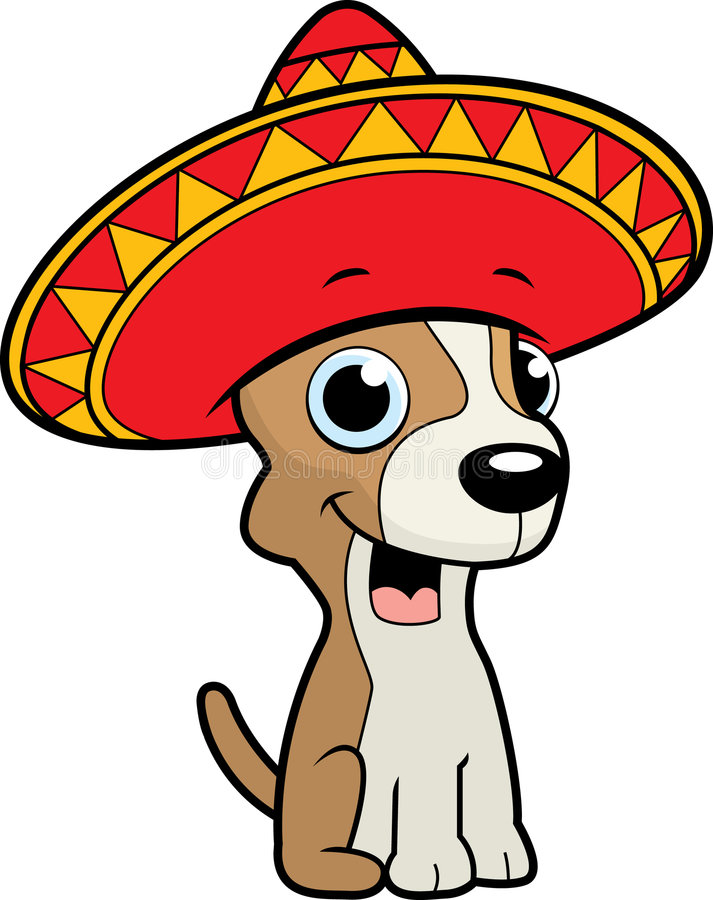 chihuahua sombrero ilustracji