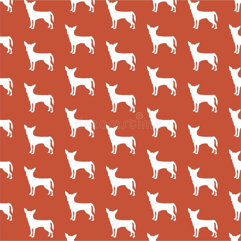 Chihuahua wallpaper vector illustration