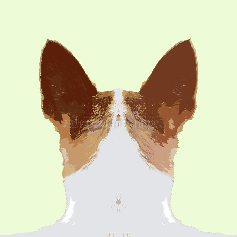 Chihuahuahond achter rug stock illustratie