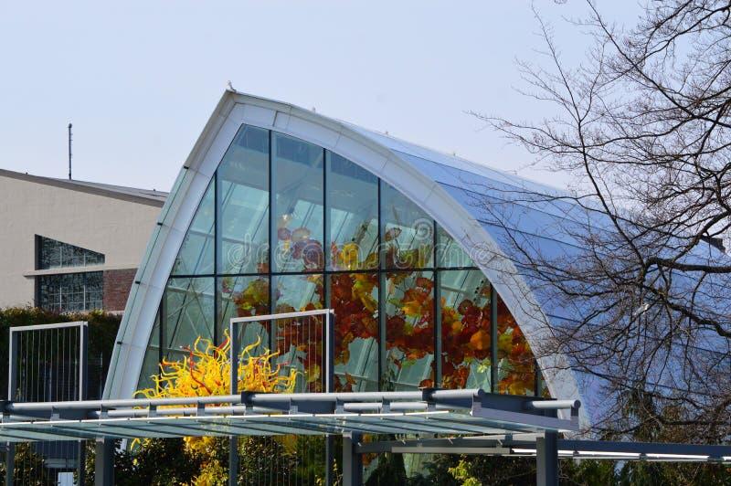 Chihuly trädgård och exponeringsglas royaltyfria bilder