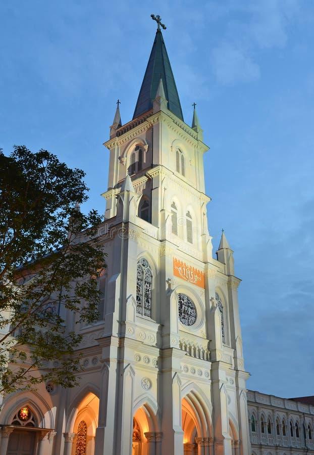 CHIJMES kathedraal in Singapore stock afbeeldingen