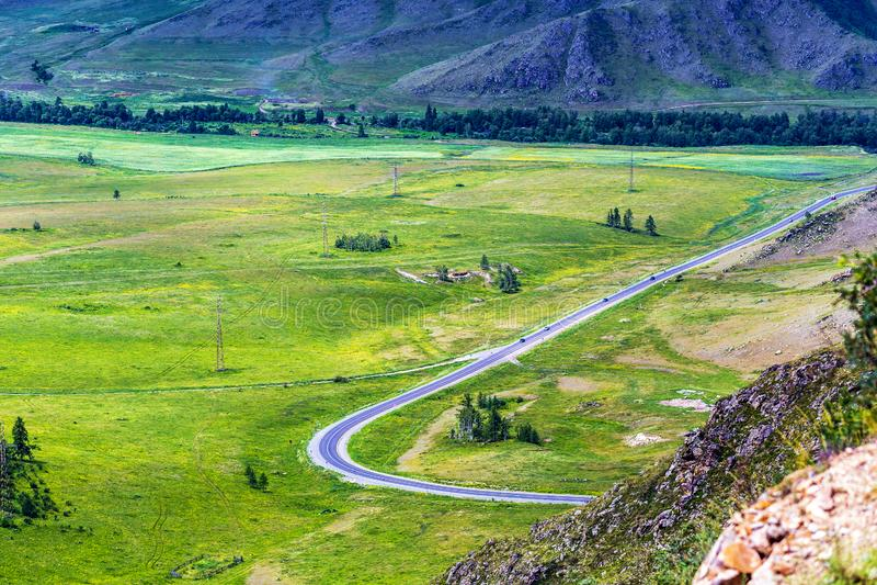 Chike - Taman bergpasserande Altai republik, Ryssland arkivfoto
