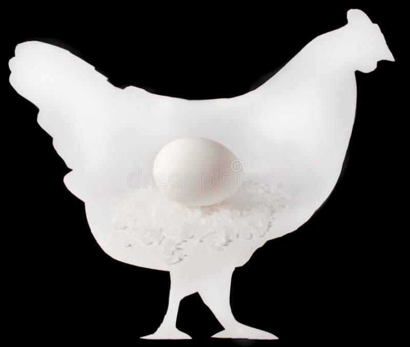 Chiken ed uovo fotografia stock libera da diritti