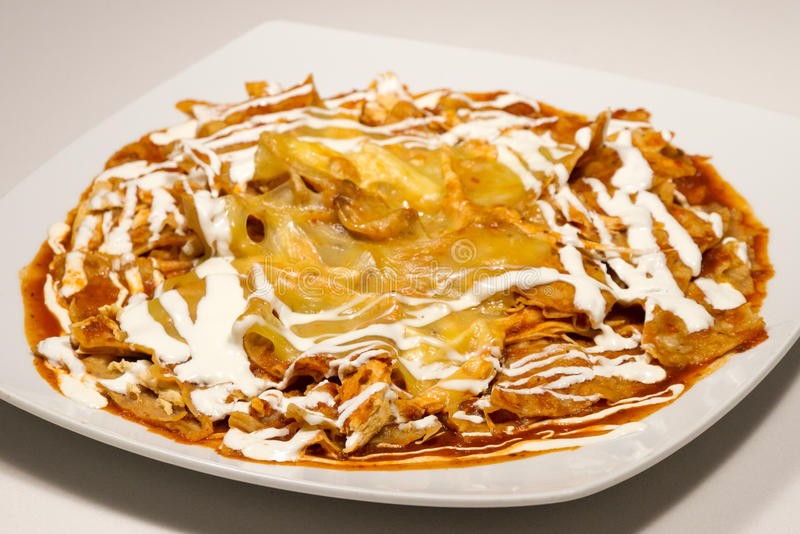 Chilaquiles rojos stock images