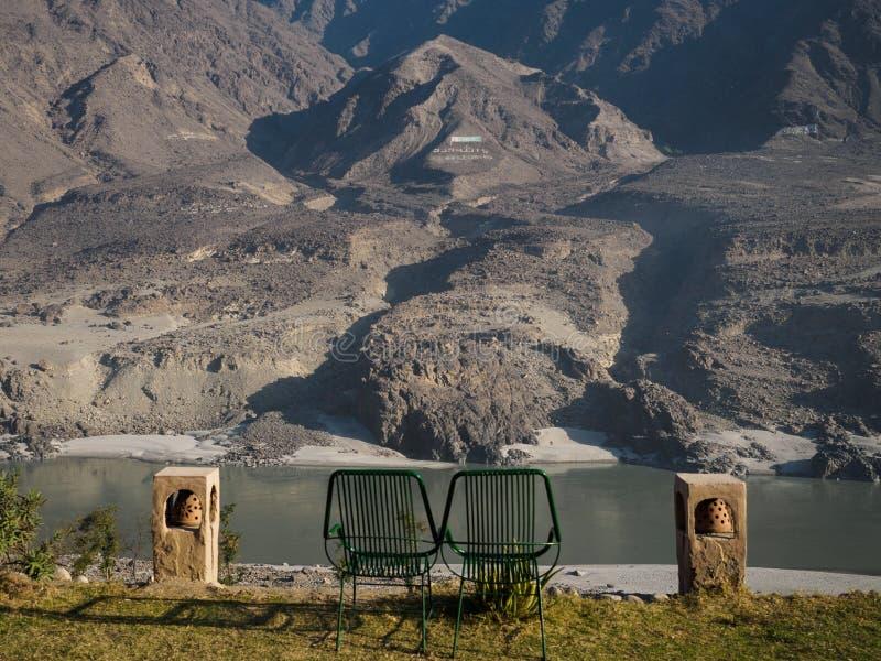 Chilas镇baltistan的基尔吉特moutain  免版税图库摄影