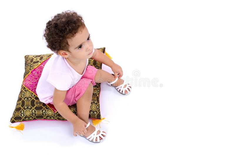 Download Child stock photo. Image of toddler, cute, pillow, lovely - 7623330