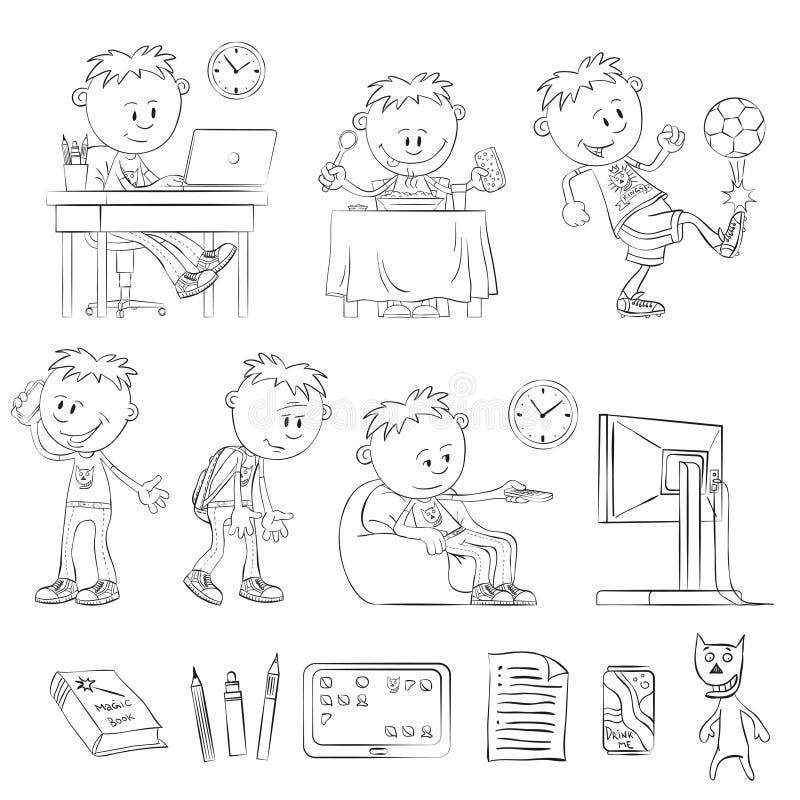 Child23 ilustração do vetor