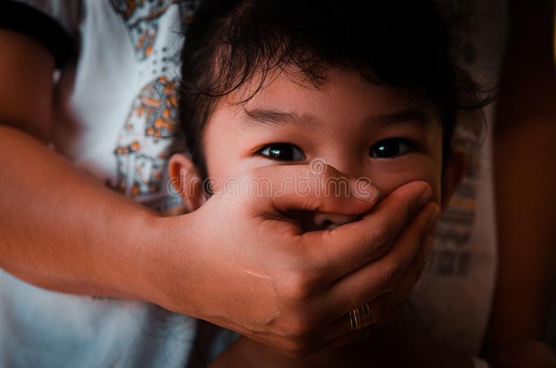 Child abuse conceptual royalty free stock images